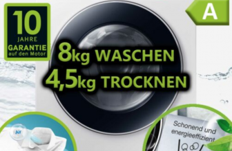 Samsung WD80M4A33JW/EG Waschtrockner 8 + 4,5 kg Waschmaschine Trockner EEK A