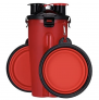 Auslaufsichere tragbare Reise-2-in-1-Futter- und Wasserflasche für Hunde