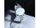 Metall-Opal-Zirkonia-Ring in schönem Blau – 90% Rabatt