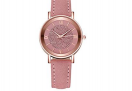 Schöne Damen Uhr mit Leder-Armband – 70% Rabatt