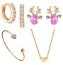 YUECI Schmuckset für Damen bestehend aus Ohrringen, Armband & Halskette – 90% Rabatt
