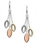 Fossil Damen Tri-Tone Ohrringe – 57% Rabatt
