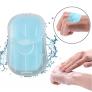 Einweg-Papierseife – 50 Stück – mit Kunststoffbox in 6 verschiedenen Farben (3.6 x 5.6cm) – 70% Rabatt
