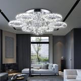 Clanmacy LED Kristall Kronleuchter mit Fernbedienung – 30% Rabatt